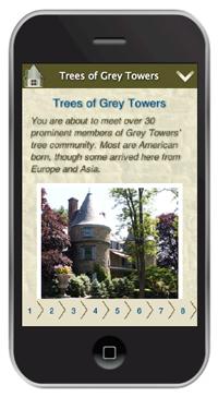 Tree Trail smartphone
